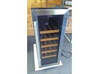 CDA FWC303SS 30 cm Freestanding Under Counter Wine Cooler / Chiller