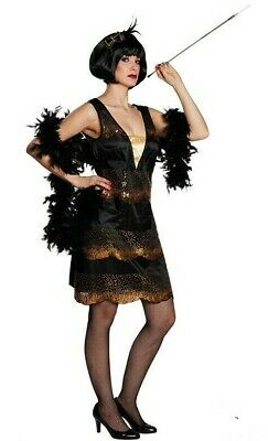 RUB 13112 Charleston 20er swing Flapper Kleid Karneval Damen Kostüm 34 bis 44