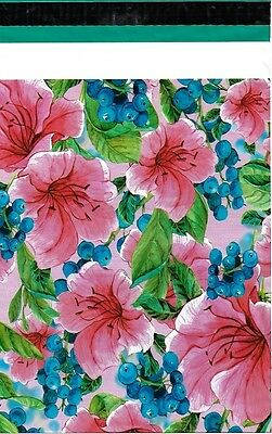 200 10x13 Pink Tropical Flowers Designer Poly Mailers Envelopes Custom Bags