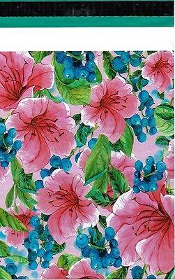 100 10x13 Pink Tropical Flowers Designer Poly Mailers Envelopes Custom Bags