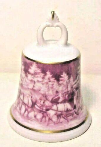 vintage Kaiser Porcelain Bell, West Germany - Stagecoach Scene