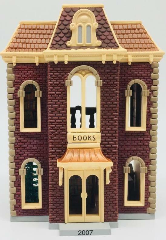 2007 Bookstore Hallmark Ornament Nostalgic Houses and Shops #24