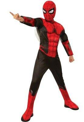 Rubies 3700614 - Spider-Man FFH Red-Black Deluxe - - Spider Man Avengers Kostüm
