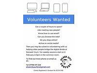 Unpaid Volunteer Digital Tutor to help older people in Aberdeen bridge the digital divide