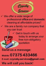 Domestic/office/pub cleaning and carpet washing