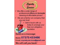 Professional domestic and office cleaning