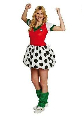 RUB 13854 Fußballkleid Ball Fußball Karneval Kostüm Damen Kleid Fan Trikot - Damen Fußball Kostüm
