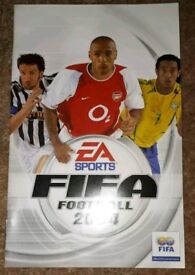 Ps2 sony playstation 2 FIFA Football 2004 game booklet only. gc