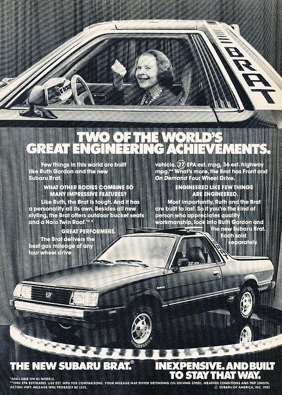 1982 Subaru Brat - engineering - Classic Vintage Advertisement Ad D01