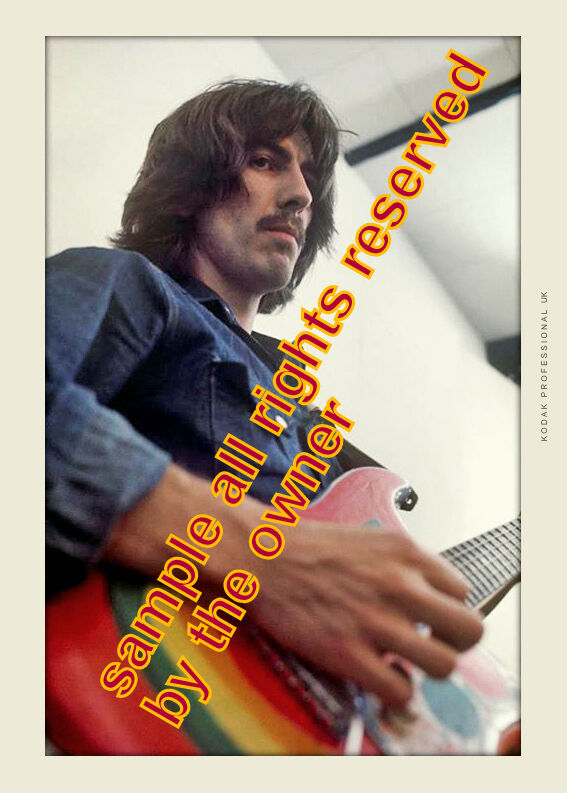 THE BEATLES George Harrison Studio sess Abbey Road 1969 5x7 qual paper Pro Lab