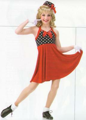 It Don't Mean A Thing Dance Costume Tap Annie Dress & Gloves Child X-Small & CS](Mean Girls Costume)
