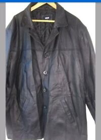 Real Leather mens coat XL