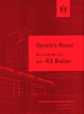 International Farmall No 45 Baler Operators Manual