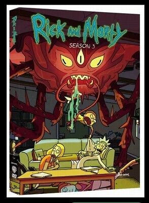 Rick and Morty Season 3  The Complete 3rd Season  DVD 2017 2 Disc Set SHIPS FREE