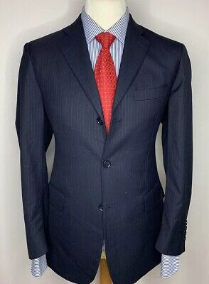 BROOKS BROTHERS 1818 REGENT LUXURY DESIGNER SUIT LORO PIANA WOOL FABRIC 40x33x31