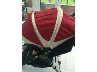 Baby jogger seat unit hood and cosy toes