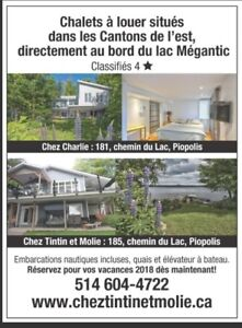 Waterfront cottages all included Megantic Lake