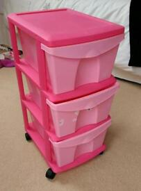 Keter plastic mobile storage drawers