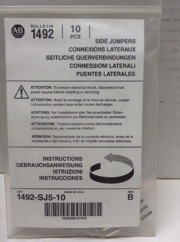 Allen Bradley Side Jumpers 1492-SJ5-10 Series B Pack of 10