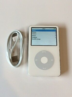 Apple iPod Video Classic 5th Generation White (30 GB) - Good Condition