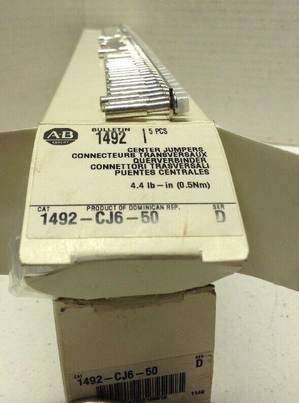 Allen-Bradley 1492-CJ6-50 Series D Center Jumpers Box of 5