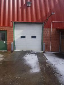 10' BY 10' USED INSULATED GARAGE DOOR, HARDWARE, OPENER FOR SALE