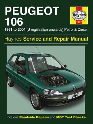 1882 Haynes Peugeot 106 Petrol & Diesel (1991 - 2004) J to 53 Workshop Manual