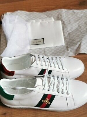 GUCCI ACE TRAINERS. 45 FIT 44