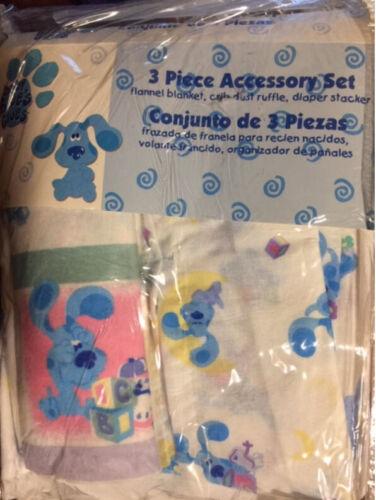 BLUES CLUES baby ACCESSORY SET 3pcs Receiving Blanket Diaper Stacker Dust Ruffle