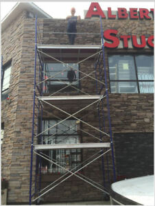 "15' Scaffold Tower Package with 5' x 5' Frames & 7' x 19"" Decks"