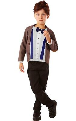 NEW AUTHENTIC BBC 11TH DR DOCTOR WHO MATT SMITH COSTUME & WIG CHILD BOY XS 3 4 - Dr Who Child Costume