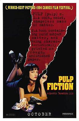 Pulp Fiction Movie Poster 27X40 G John Travolta Samuel L  Jackson Uma Thurman