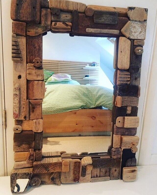 Large Driftwood Mirror