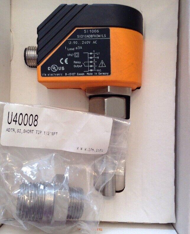 IFM Effector 300 Flow Sensor SI8507, SI1006 w/U40008