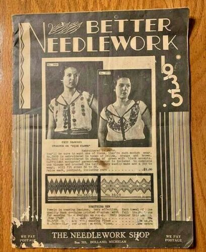 Vintage Better Needlework Catalog from 1935 by The Needlework Shop Holland, MI
