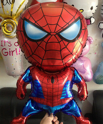80cm Cartoon Spiderman Foil Helium Balloon Birthday Party Wedding Supplies