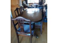 Side cabinet and table and chairs for sale