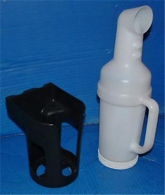Golf Cart Sand Bottle w Handle + Holder JUMBO  Precedent, EZGO, Club Car,Yamaha (Sand Bottles)