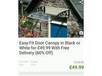 Brand new door canopy
