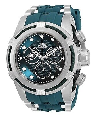INVICTA NFL PHILADELPHIA EAGLES 53MM BOLT ZEUS SWISS MVT LTD ED Watch. Last One!
