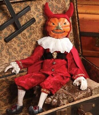 Bethany Lowe Halloween Twisted Jack in a Devil Costume Marionette—Retired
