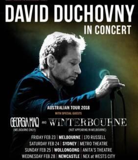 David Duchovny tickets x 2 in Newcastle