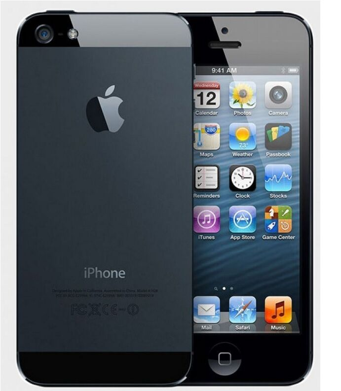 Apple iPhone 5-16GB 32G 64GB(Factory Unlocked)GSM Smartphone Black-Whit Phone*