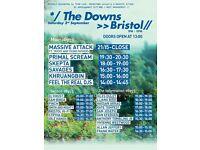 2x Massive Attack convert/festival tickets for Saturday 3rd September