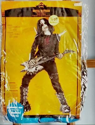 Boys Husky 10/12 Metal Mayhem Horror Rock Star Halloween Costume New](Rockstar Costumes For Boys)