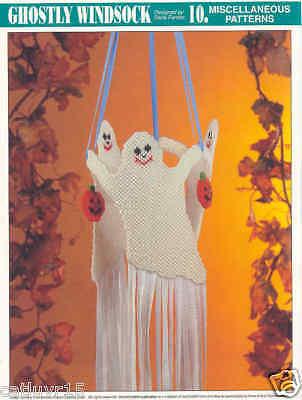 GHOSTLY WINDSOCK ~  plastic canvas pattern ~ HALLOWEEN](Halloween Windsocks Craft)