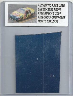 KYLE BUSCH NASCAR RACE USED SHEET METAL PIECE 2007 KELLOGGS CAR N-4