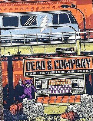 1 November 2019 Halloween (Dead Company MSG New York HALLOWEEN NOV 1st 2019 VIP Poster Print S/N AP)