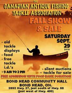 CAFTA Vintage fishing tackle show and sale Saturday Sept 29th