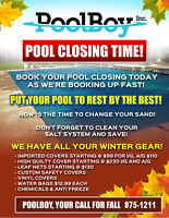 POOL CLOSING TIME, PUT YOUR POOL TO REST BY THE BEST